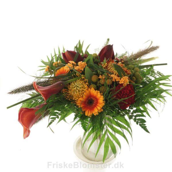 nutans, gladiolus og gerbera efterårsbuket