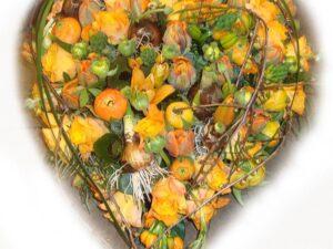 orange forårs hjerte