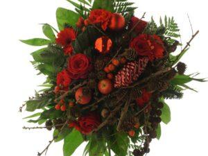røde roser og mini æbler